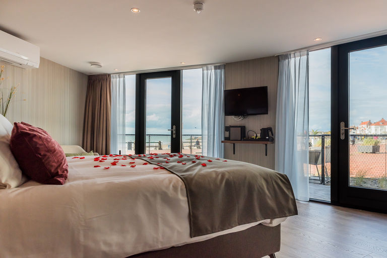 Kamer met terras én uitzicht op het strand