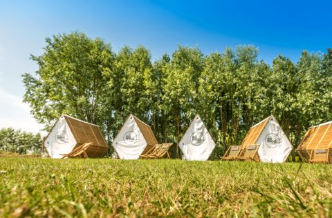 Unieke camping hut vlakbij strand en zee