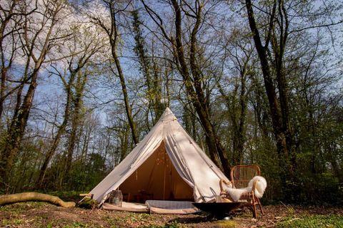 Meditatie en Yoga glamping in het bos