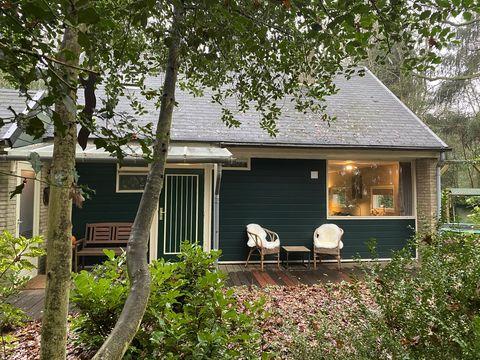 Knus boshuisje voor 5 personen met grote tuin