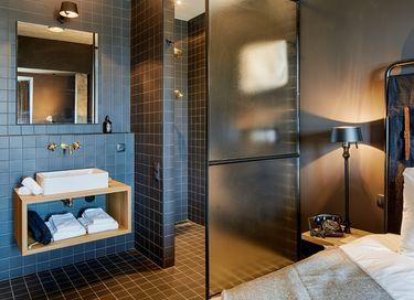 Design kamer met sauna in een boutique hotel