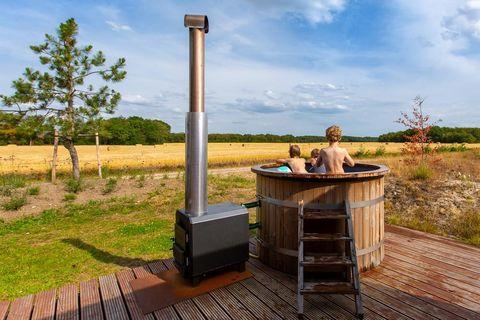 Natuurlodge (6-8 persoons) met hot tub