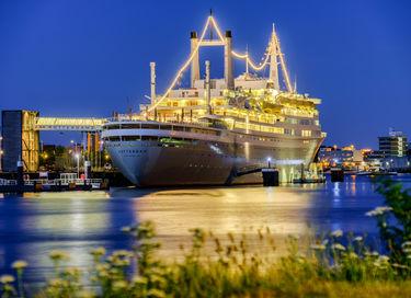 Overnachten op een luxe cruiseschip