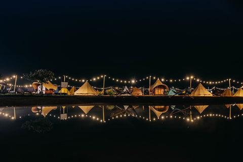 Uniek kamperen op Festival-achtige glamping