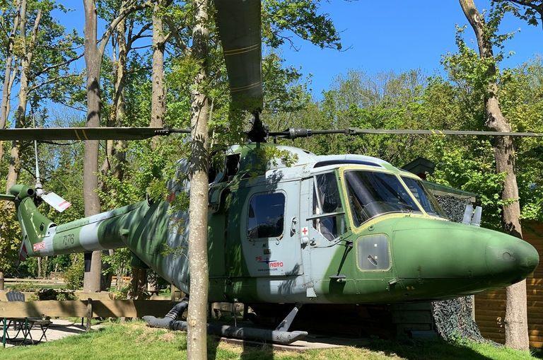 Slapen in een helikopter