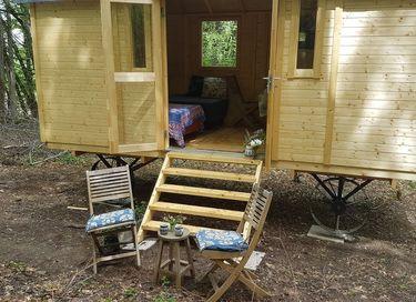 Tiny house op wielen in Bourgondië