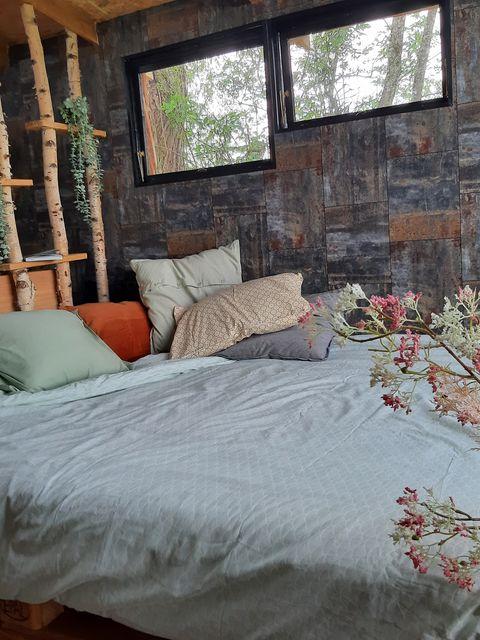 Overnachten in ecologische boomhut met hottub