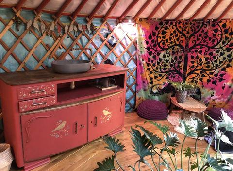 Luxe Yurt in heerlijke tuin van woonboerderij