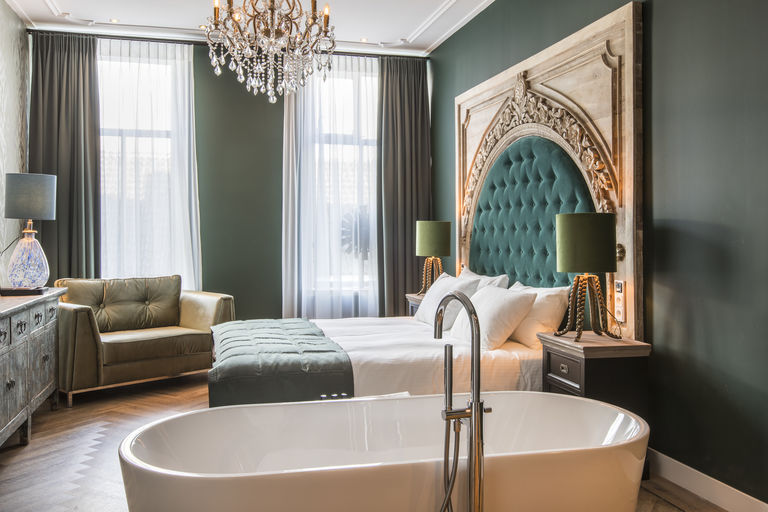 Luxe kamer in boutique hotel in Friesland