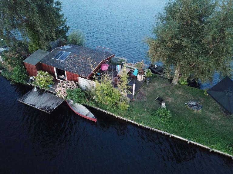 Slapen op een privé eiland in Vinkeveen