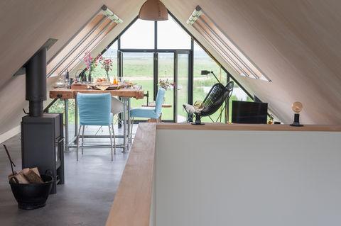 Designhuis in de polder met rust en natuur.
