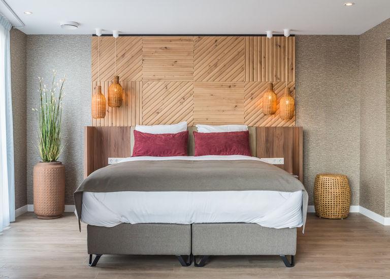 Luxe hotelkamer aan de kust met privé sauna