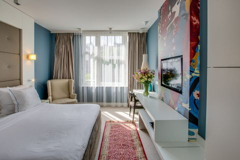 Luxe kamer in boutique hotel in Amsterdam