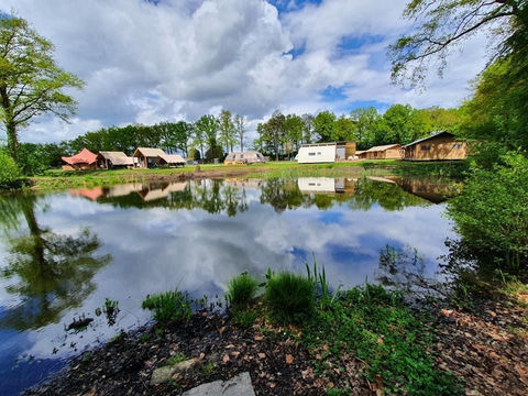 7-persoons luxe Safari lodge op camping